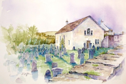 Kirkmichael, Scotland, Watercolor