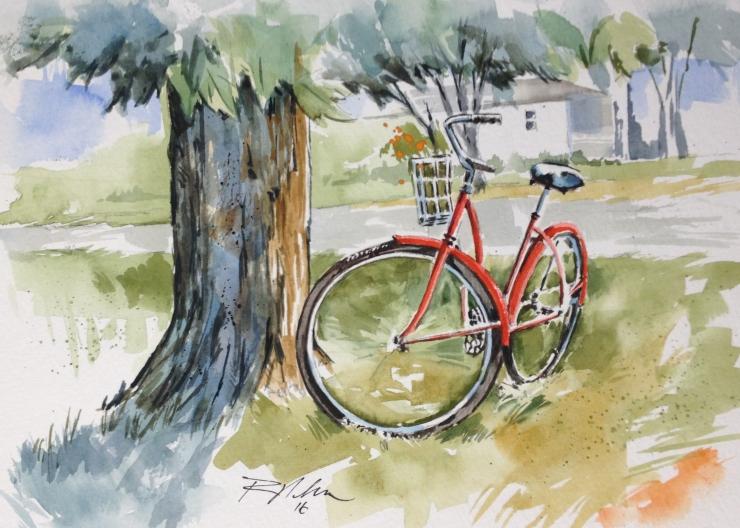 bikewatercolor