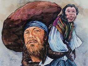 Jack and Barbossa: Gouache